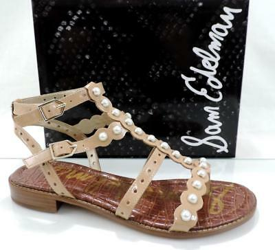 af3848c5e Women s Shoes Sam Edelman ELISA 2 Studded Flat Gladiator Sandals Almond  Size 9