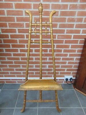 ANTIQUE 19th CENTURY FRENCH VICTORIAN GILT FAUX BAMBOO ARTIST EASEL STAND