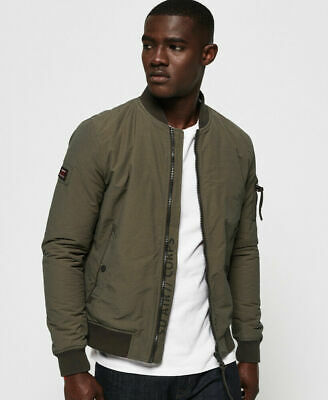 New Mens Superdry Air Corps Bomber Jacket Light Khaki