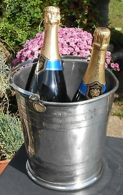 Large Victorian Champagne Bucket - Silver Plated C. 1860 - Antique