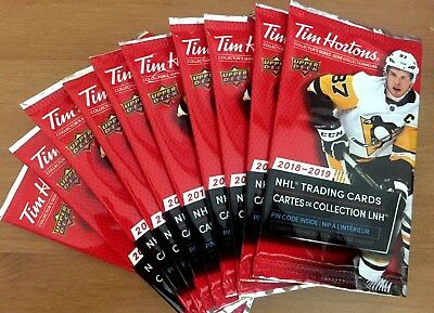 18-19 UD TIM HORTONS CARDS 10 SEALED UNOPENED PACKS Mcdavid Matthews Relic? L@@K