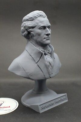 Alexander Hamilton 5 inch 3D Printed Bust Founding Father USA Art FREE SHIPPING