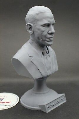 Barack Obama 5 inch 3D Printed Bust USA President #44 Art FREE SHIPPING