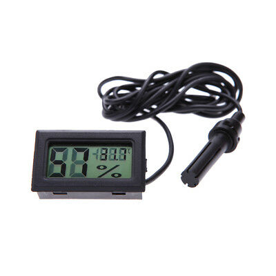 Digital LCD Hygrometer Thermometer Humidity Temperature Meter With Probe J3V0