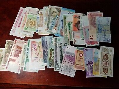 World Currency lot of 25 Pieces Pcs, Mixed Paper Money Set, UN-Circulated