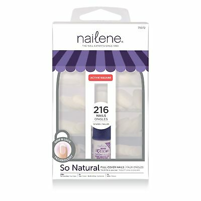 Nailene Nails Full Cover Short Square includes 200 Nails