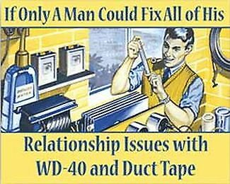 If Only A Man Could Fix All Of His... Metal Sign Garage Art Man Cave