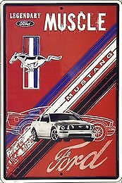 Legendary Muscle ...Ford Mustang Metal Tin Sign Garage Art Man Cave Wall
