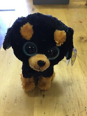 Ty Beanie Boos Tuffy the Rottweiler Retired BRAND NEW WITH TAGS - FREE SHIPPING