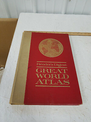 "READERS DIGEST GREAT WORLD ATLAS "" "" FIRST EDITION "" "" 1963 Hard Back"