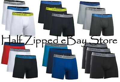 """3492dd6a2987 Under Armour Charged Cotton Stretch 6"""" Boxerjock Brief 3-Pack 1277279 - 5  colors"""