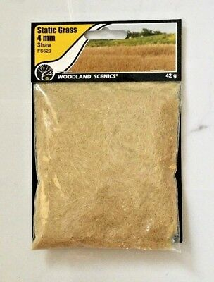 Woodland Scenics Static Grass 4 Mm. Straw Coloured Item 42 G. Package Fs 620 F/s