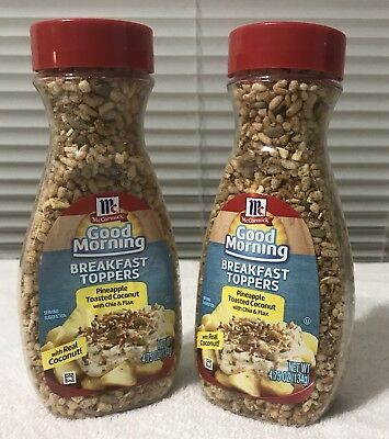 McCormick Pineapple Toasted Coconut Breakfast Topper 4.75 Oz BB 11/18 LOT OF 2 M