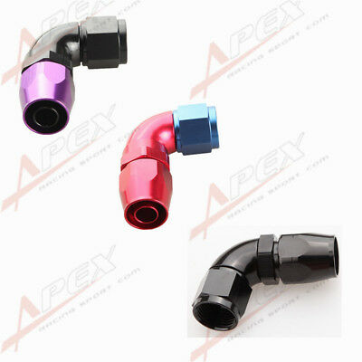 AN4 AN6 AN8 AN10 AN12 90 Degree Swivel Hose End Fitting Adapter Aluminum