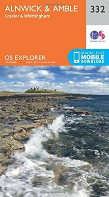 OS Explorer Map 332 Alnwick and Amble, Craster and Whittin... by Ordnance Survey