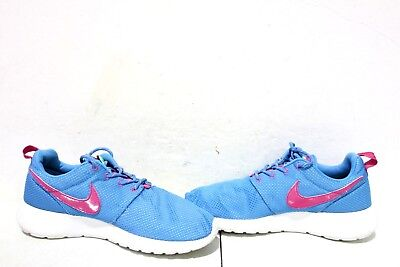 3ed393af1ab5 NIKE GIRLS ROSHE Run (GS) 599729-400 Youth Size 6.5Y Blue Pink WMNS ...