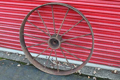 "LARGE Antique Wagon Tractor Wheel-Metal-14 Spoke-40"" Tall-Country Decor-#1"
