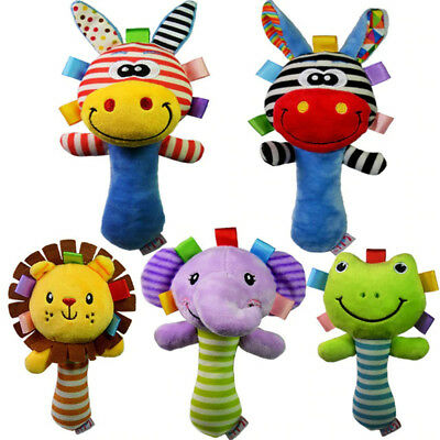 Maternal and Child Children's Handbell 0-3 Years Old Baby Toys Cartoon Animal AU