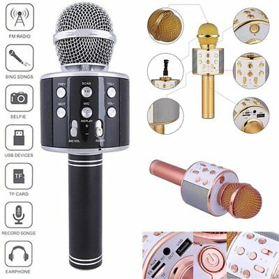 Handheld KTV Microphone Wireless Bluetooth Karaoke Home Mic Speaker Player USB