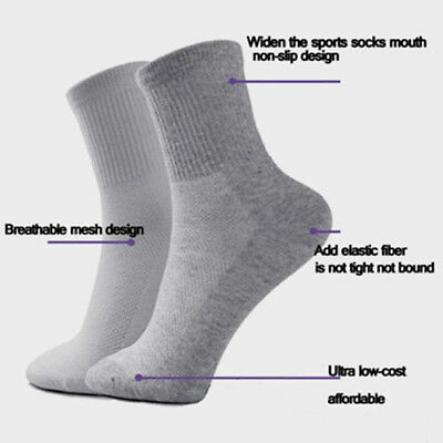 5 Pairs Men's Warm Socks Winter Thermal Casual Soft Cotton Solid Sport Sock tall