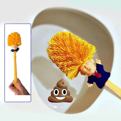 Funny Present Donald Trump Cleaning Tool Presidential Home Use Toilet Brush