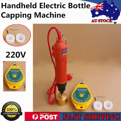 220V Handheld Electric Bottle Capping Machine Screw Capper Sealing Machine AU