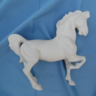 Horse Sculpture Vintage Ceramic Bisque Figurine