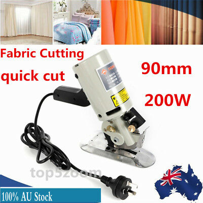 90MM Cloth Cutter Fabric Cutting Machine Shear Rotary Electric Scissors 220V AU