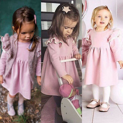 AU Toddler Kids Baby Girls Ruffle Party Pageant Tutu Gown Princess Dress Clothes