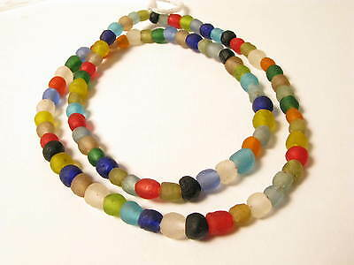Recyclingglasperlen 6 - 7mm gemischt Krobo Recycling Powder Glass Beads Afrozip