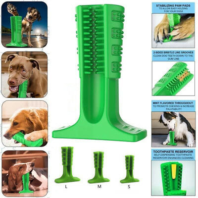 Pet Dog Toothbrush Brushing Stick Teeth Cleaning Chew Toy Brush Oralcare 3 Size