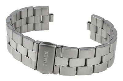 Timex Spare Band Stainless Steel Silver High Gloss/Matte for T2P059 T2P058
