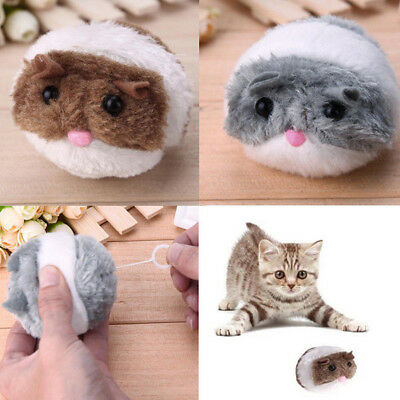 New Plush Fur Mouse Shake Rat Cute Pet Cat Toy Funny Interactive Kitten Toys