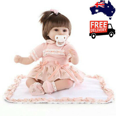 43cm Silicone Cute Reborn Super Baby Lifelike Toddler For Kids Fantasy Gift