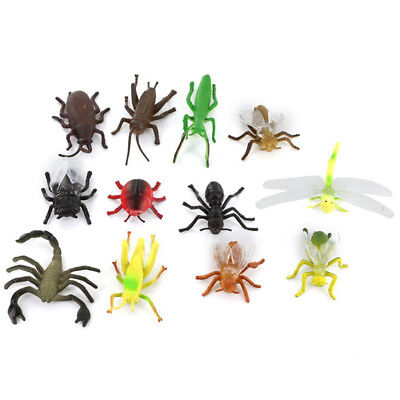 S8W4 Plastic Pvc Insect Animal Model Children'S Toy 12 Pcs Colors H9V4