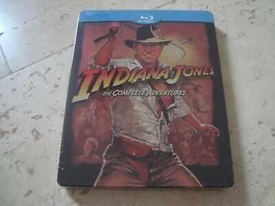INDIANA JONES 5 DISC Complete Adventures 4Film Blu-Ray SteelBook NEW & SEALED G2