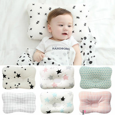 Infant Baby Newborn Pillow Positioner Prevent Flat Head Anti Roll Soft Warm RIV