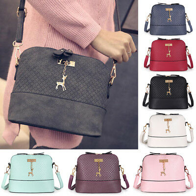 Women Ladies Bag Handbag Shoulder Tote Satchel PU Leather Messenger Cross Body