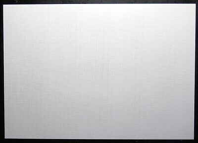NEW A4 Textured Premium Quality Craft Card LINEN EFFECT White 300gsm 8 Sheets