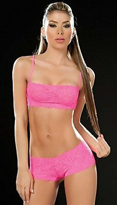Insieme a spirale 206 Donna sexy pizzo / Panties Colore Rosa Taglia L (Q3Q)