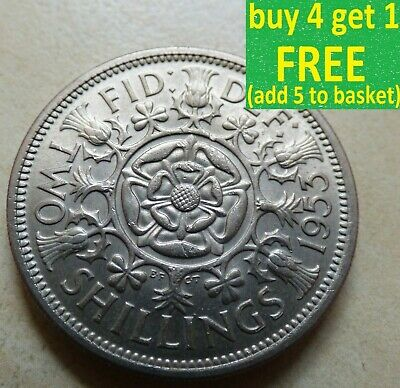 Elizabeth II Florin/Two Shillings Coins Choose your date 1953 - c.1971