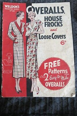 Weldons Overalls House Frocks Loose Covers No 92 No Patterns c1930s