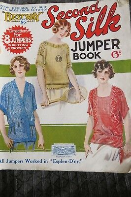 Bestway no 86 Second Silk Jumper Book Knitting Crochet
