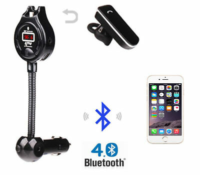 Car FM Transmitter Radio Adapter Hands Free Call Wireless Dual Usb Charger