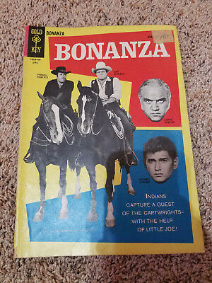 Bonanza 7 gd Photo cover gold key Comics Silver age TV show vintage western 1964