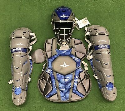 All Star System 7 Axis Intermediate 13-16 Catchers Gear Set Graphite Royal Camo