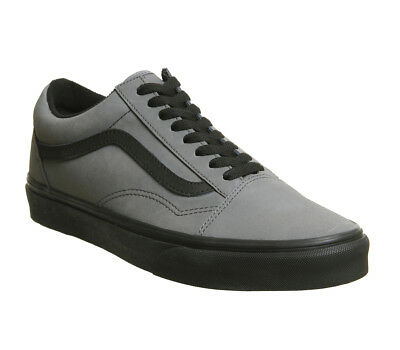 WOMENS VANS OLD Skool Trainers Pewter Black Vansbuck Trainers Shoes ... d1dc610cc