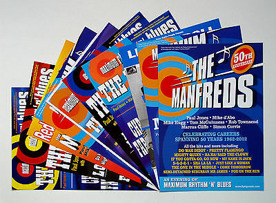 The Manfreds - set of 10 UK A5 promotional tour flyers...ideal for framing!