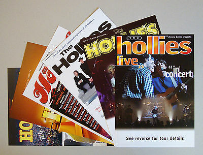 The Hollies - set of 6 UK A5 tour flyers from 1998 to 2013...ideal for framing!