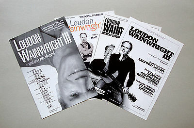Loudon Wainwright III - set of 4 UK A5 tour flyers, MINT...ideal for framing!